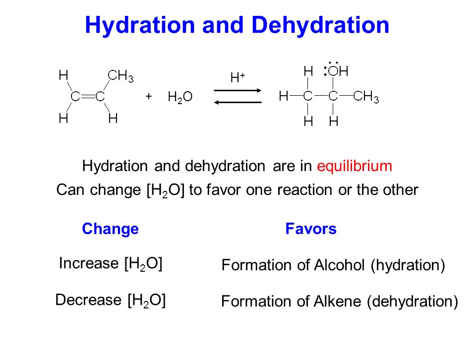formation of an alkene by alcohol dehydration essay If there are more than two substituents on alkene use z and e is through a dehydration of an alcohol at the carbon-carbon double bond of the alkene.