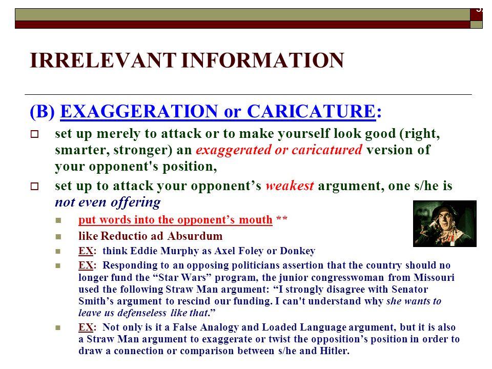 II. IRRELEVANT INFORMATION. - ppt download