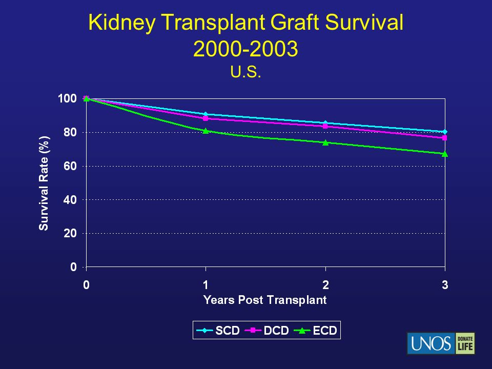 Kidney Transplant Graft Survival 2000-2003 U.S.