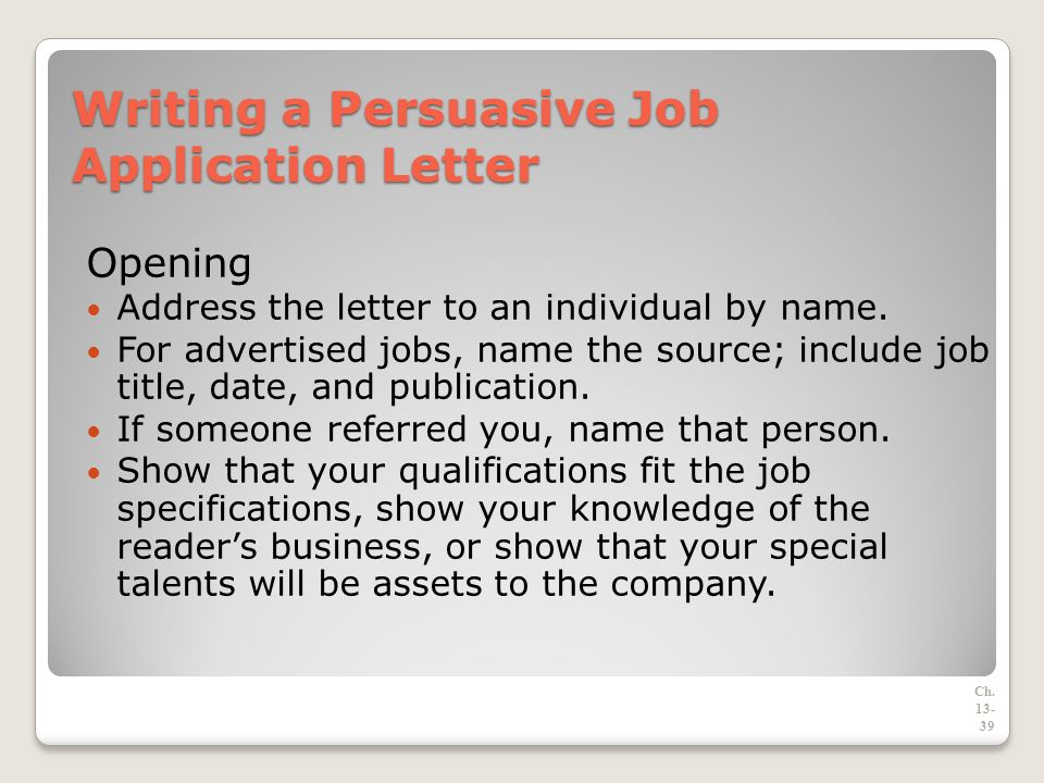 the job search rasumas and application letters ppt download