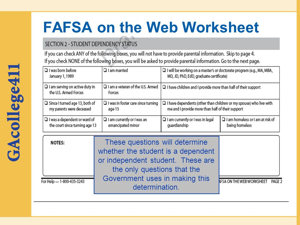 Georgia Student Finance Commission ppt download – Fafsa on the Web Worksheet