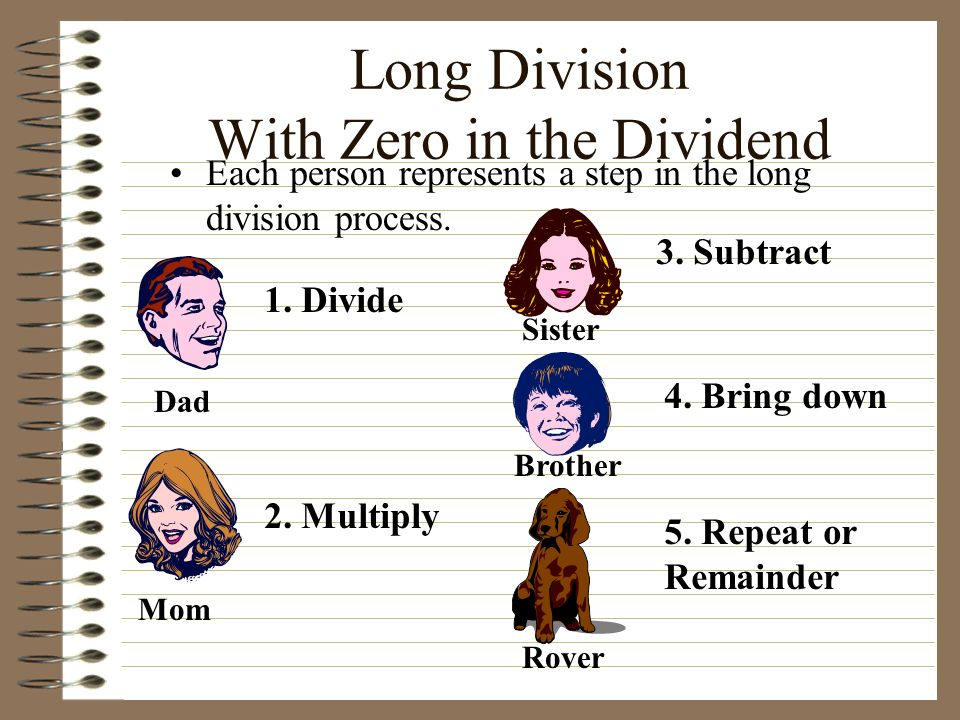 Long Division With Zero in the Dividend