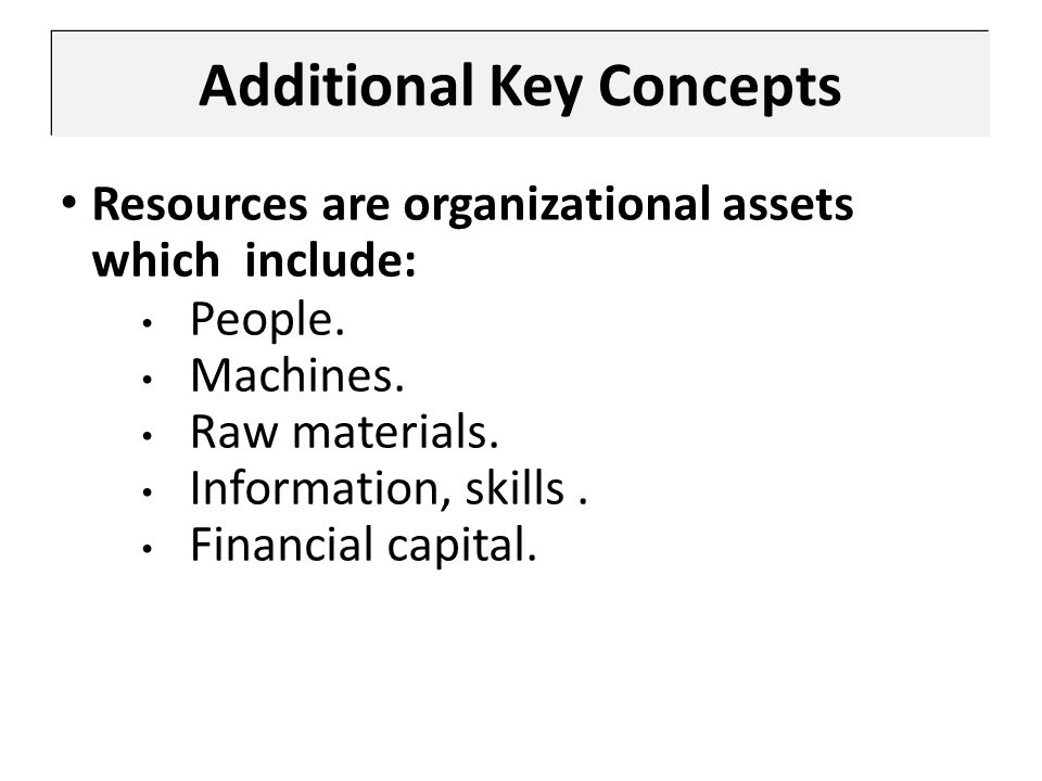 Additional Key Concepts