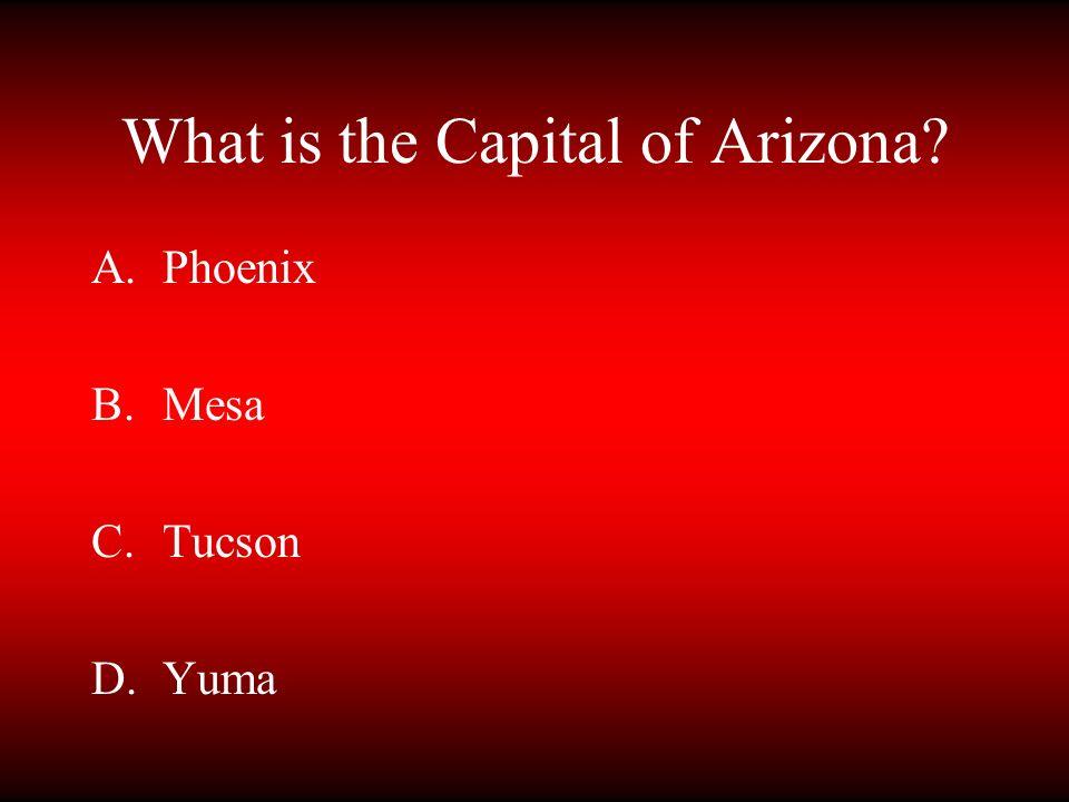 What is the Capital of Arizona