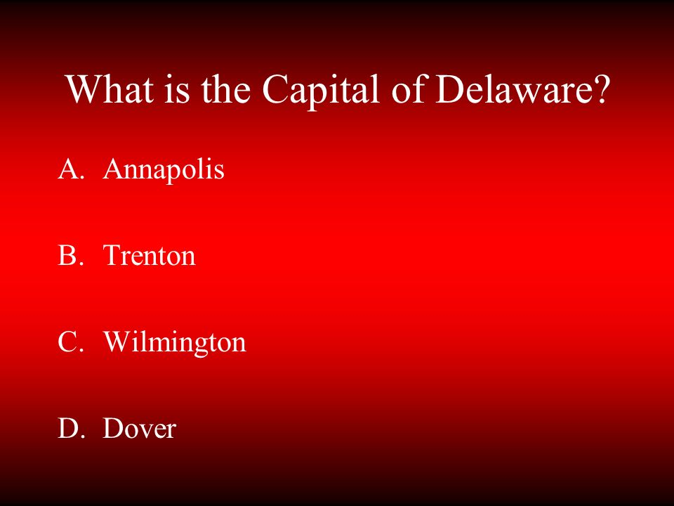 What is the Capital of Delaware
