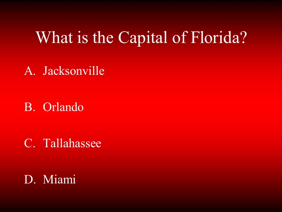 What is the Capital of Florida