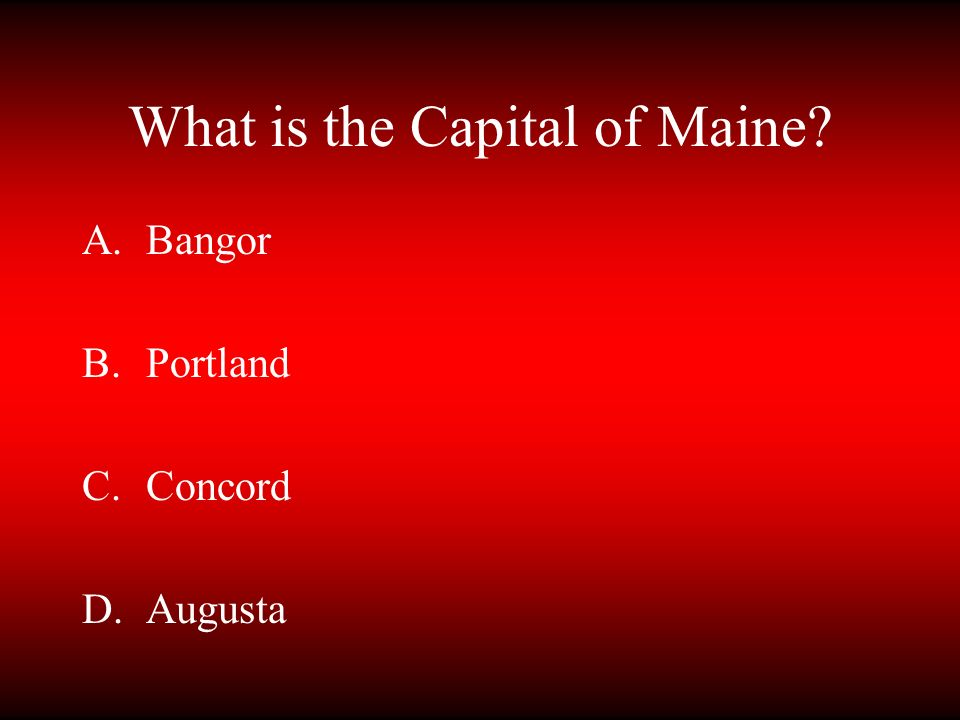 What is the Capital of Maine