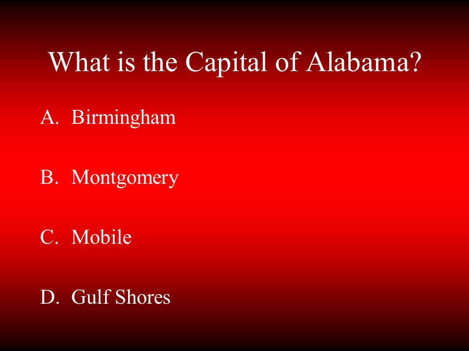 What is the Capital of Alabama