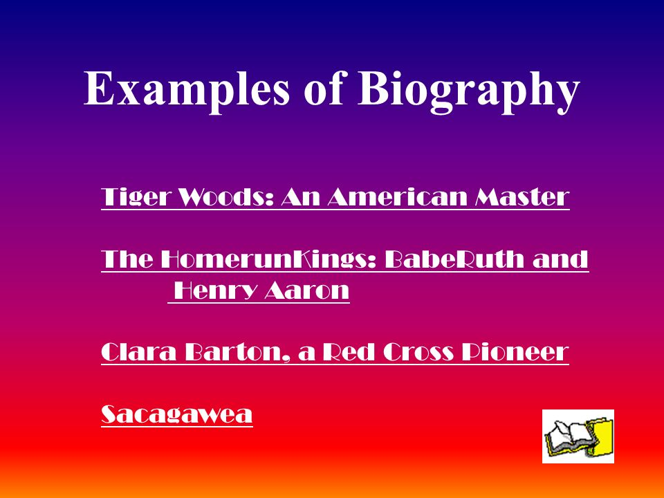 Examples of Biography Tiger Woods: An American Master