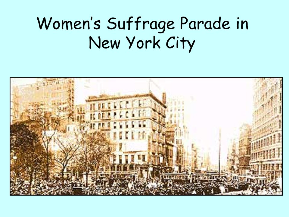 Women's Suffrage Parade in New York City