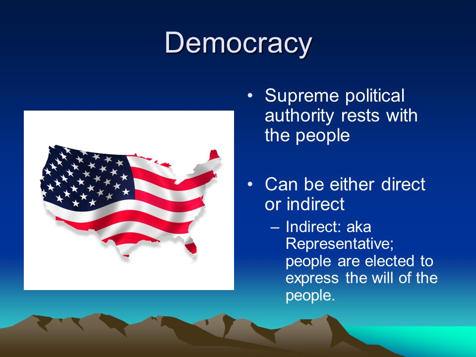 34a52c8209b6 Democracy Supreme political authority rests with the people - ppt ...