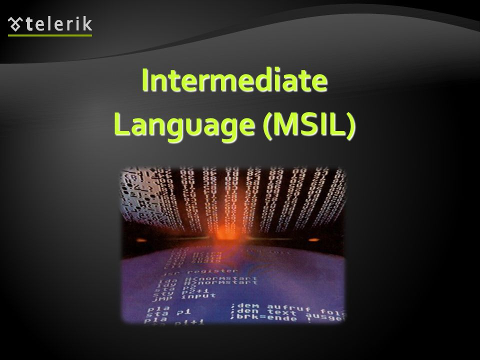 Intermediate Language (MSIL)
