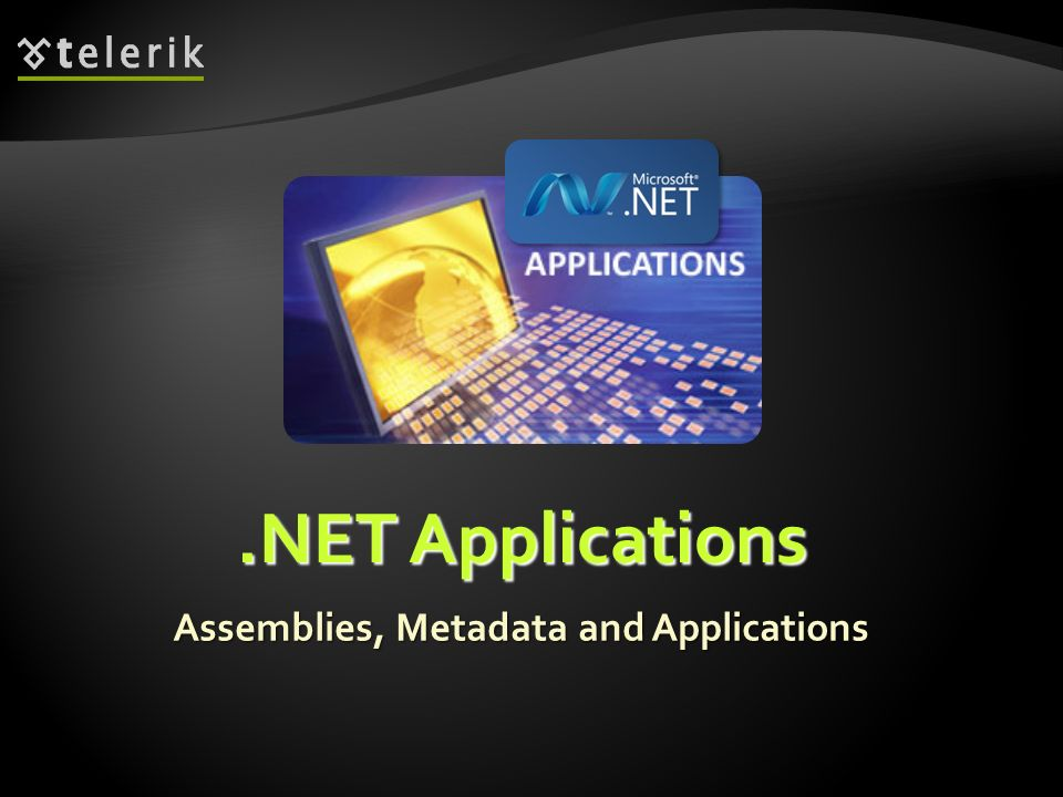 * Assemblies, Metadata and Applications