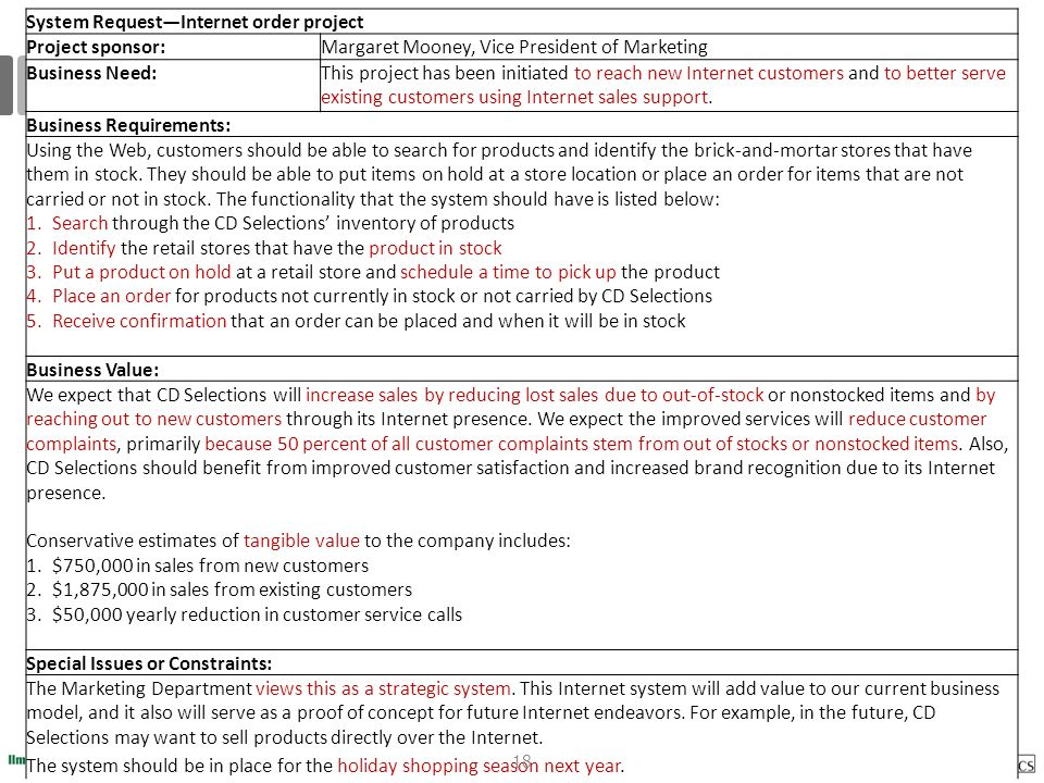 Systems Analysis and Design 2. Project Planning