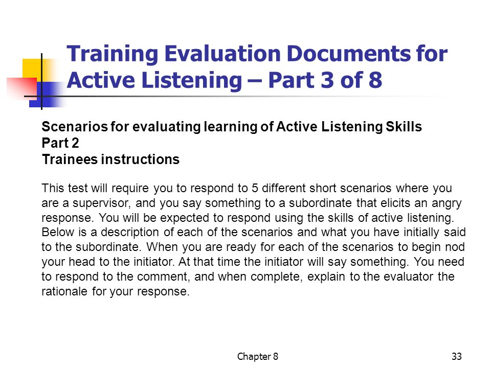 Evaluation Of Training Chapter Nine  Ppt Video Online Download