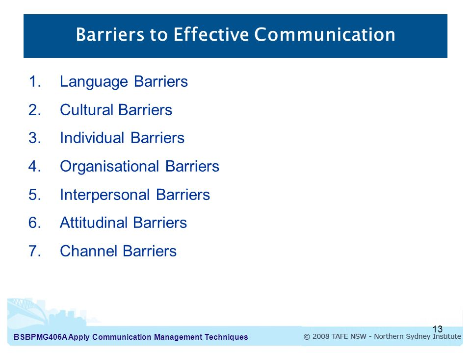 individual factors in communication barriers Examples of interpersonal barriers that prevent individuals from effective communication  trying to communicate with an individual that clearly.