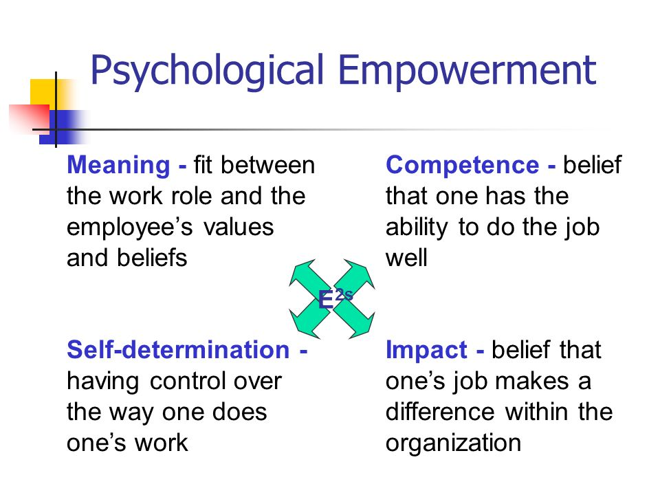 Psychological Empowerment Scale