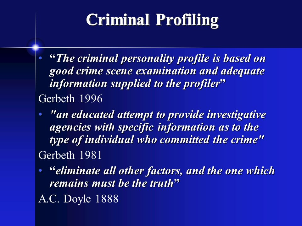 criminal profiling fbi vi cap investigative psychology  3 criminal profiling ""