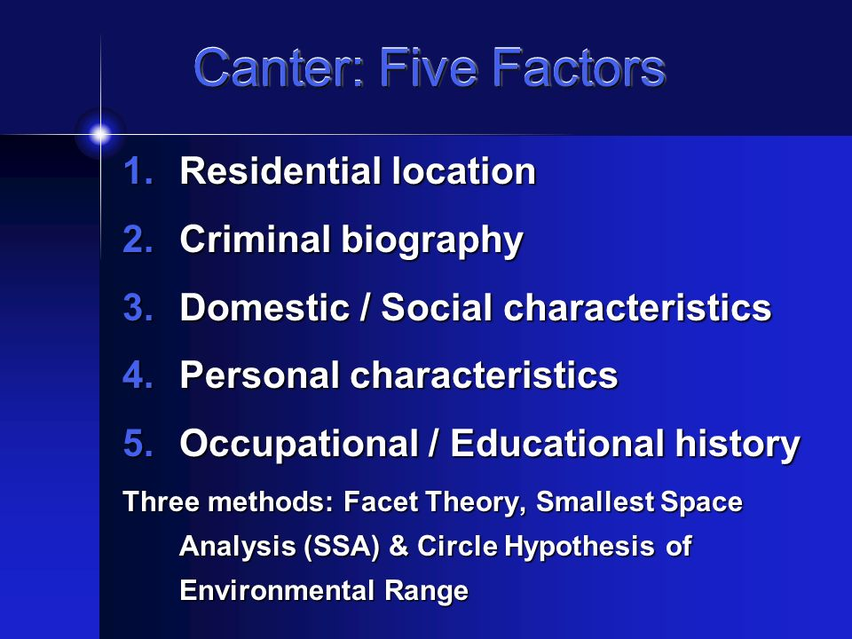 an analysis of the features of the five factor model The five-factor framing of personality and beyond: some ruminations jack block university of california, berkeley  the five-factor-model (ffm) ques-tionnaire approach to personality study advocated by  statistical method of factor analysis, repeatedly were.