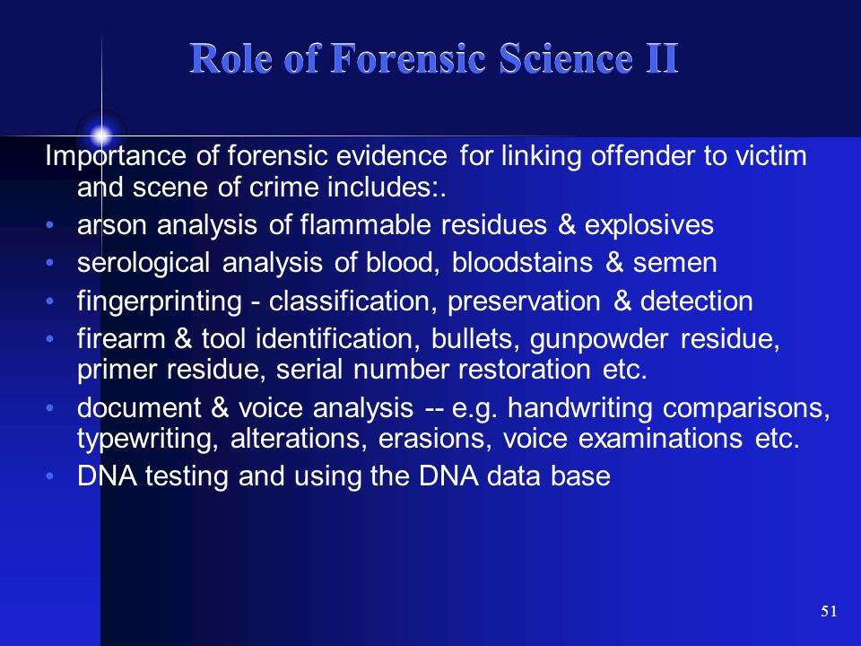 the role of forensic science in the criminal investigation Research journal of forensic sciences _____ issn 2321–1792 vol 3(5), 1-4, may (2015) res j forensic sci international science congress association 1.