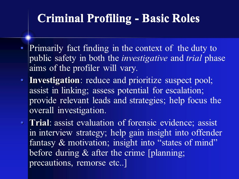 criminal profiling fbi vi cap investigative psychology  56 criminal profiling
