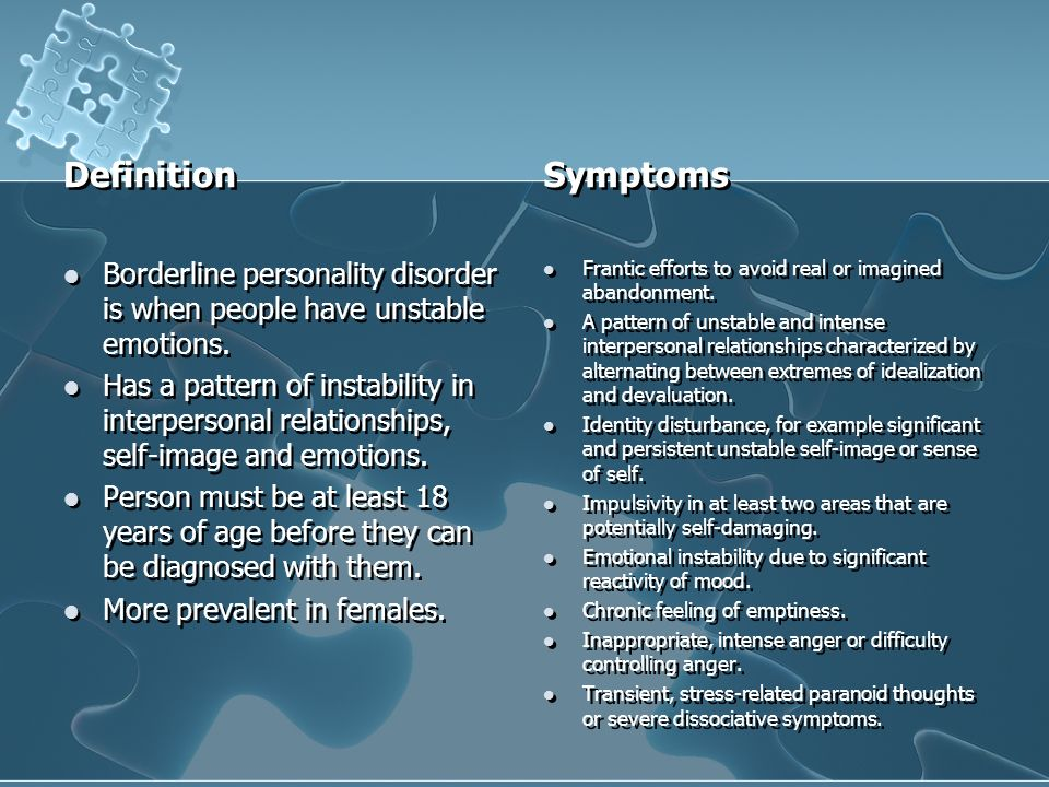 Effects of dating someone with borderline personality disorder