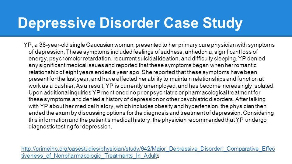 case study of depression