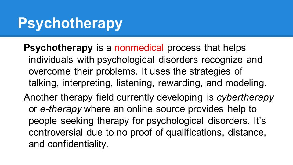 abnormal psychology therapy Patients who recovered either through cognitive–behavior therapy (cbt n = 25)  or through  journal of abnormal psychology, vol 108(1), feb 1999, 3-10.