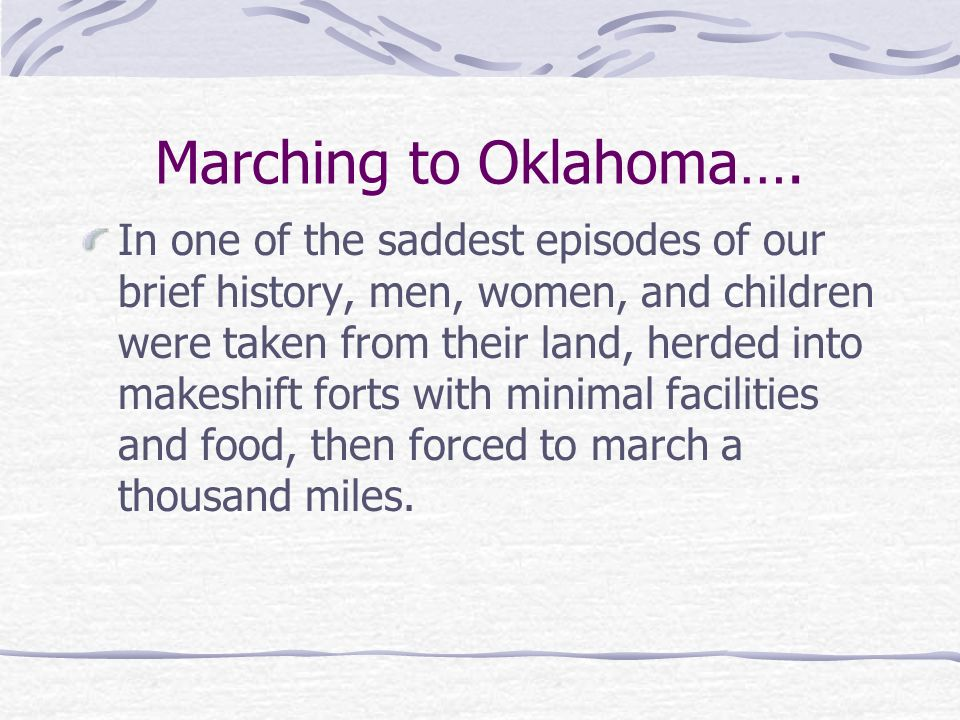 Marching to Oklahoma….