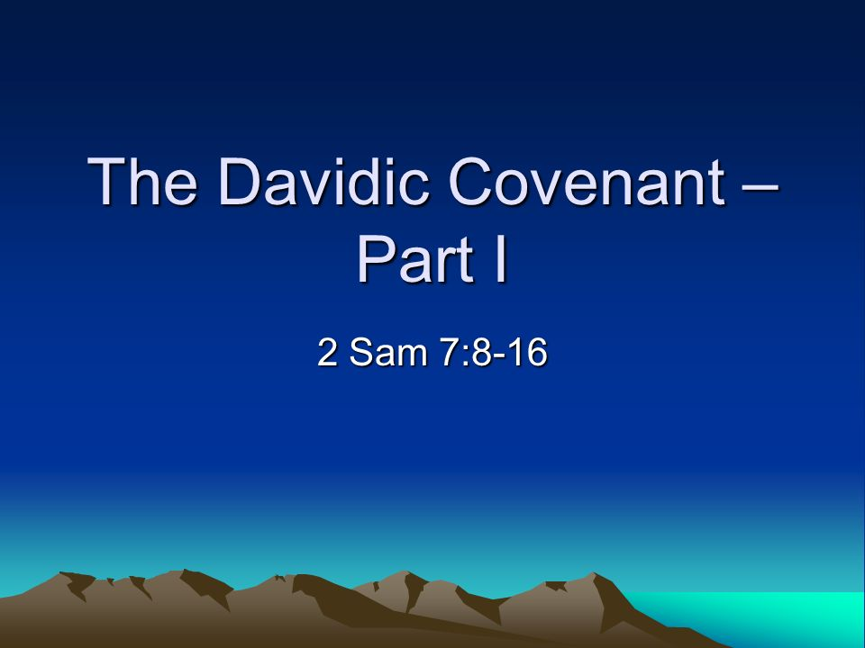 davidic covenant The background of the davidic covenant i think it is fitting that god chose jeremiah as the one to whom he revealed the future of the davidic covenant in conjunction with the other facets of his covenant plan after all, jeremiah was the prophet in jerusalem who prophesied against the.