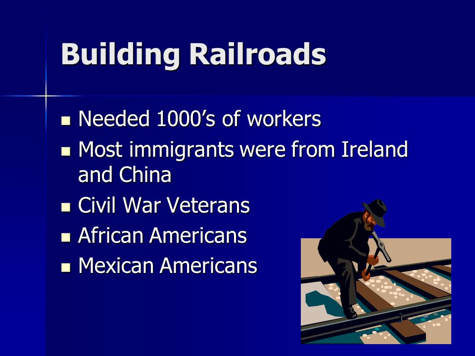 Building Railroads Needed 1000's of workers