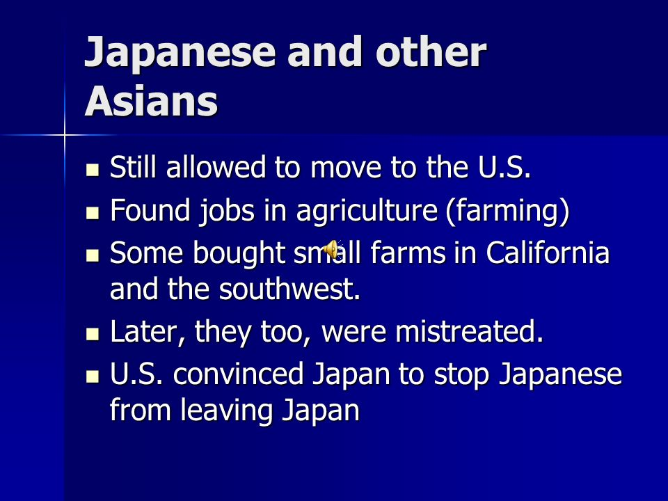 Japanese and other Asians