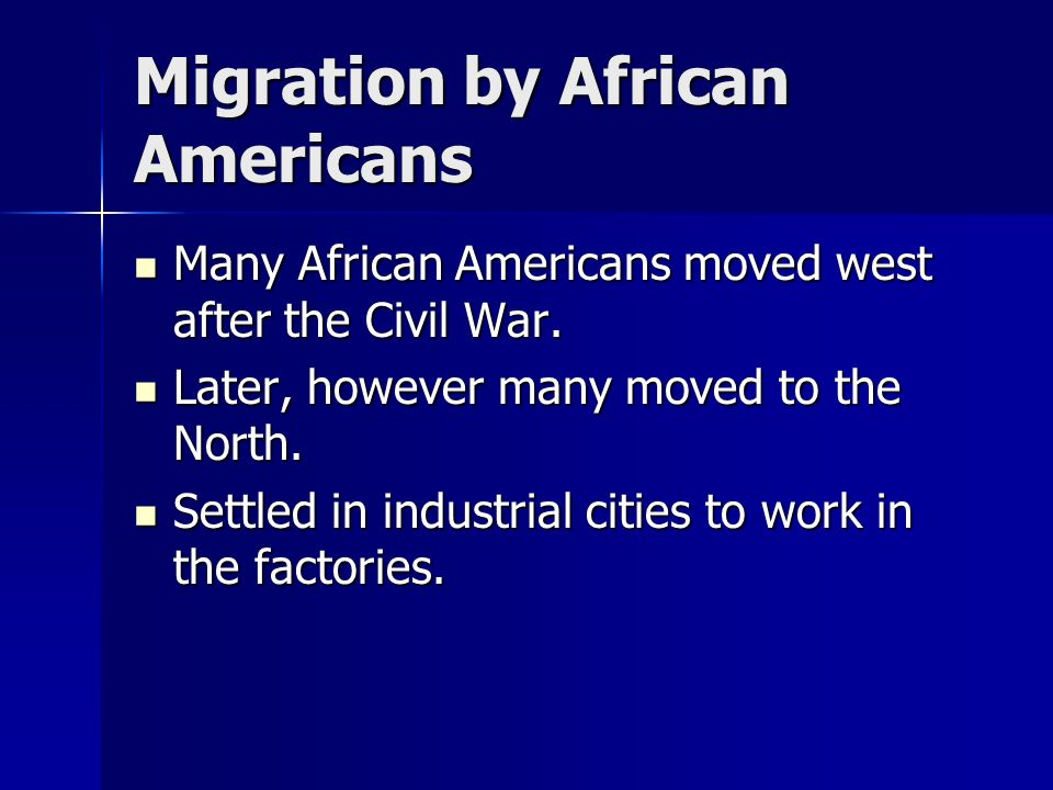 Migration by African Americans