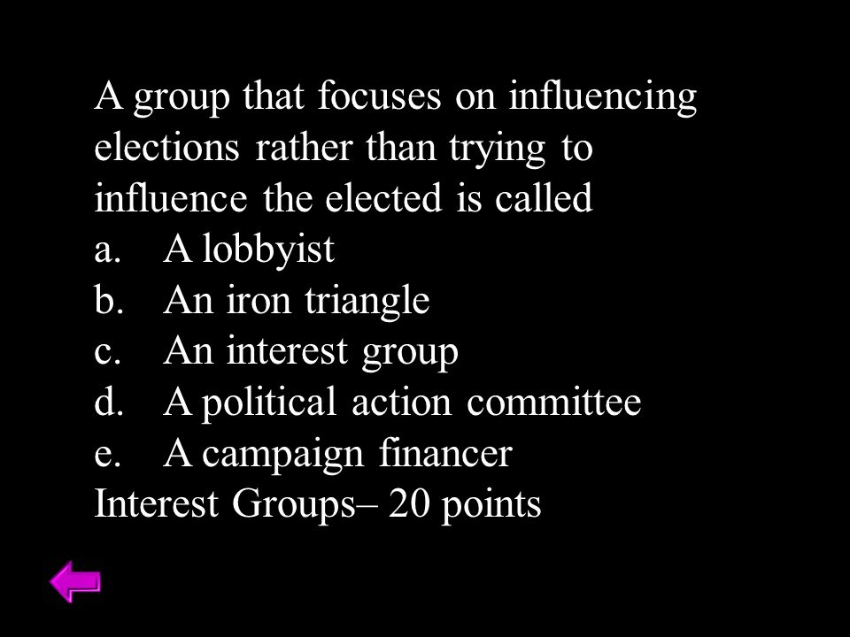 A political action committee A campaign financer
