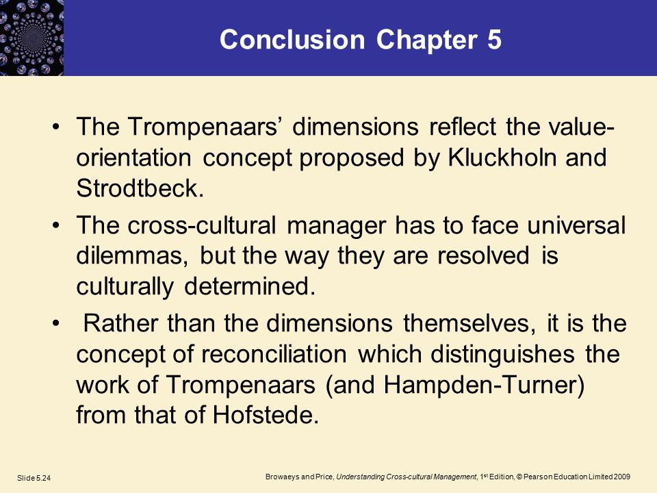 hofstede and trompenaars and hampden turner compared Trompenaars & hampden-­‐turner – cultural dimensions  identified by hofstede and by trompenaars and hampden-turner  is compared with the.
