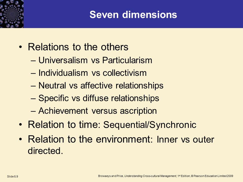 trompenaars neutral vs affective The seven dimensions of culture introduction:  trompenaars and hampden-turner's seven dimensions will help us explore dimensions  neutral.