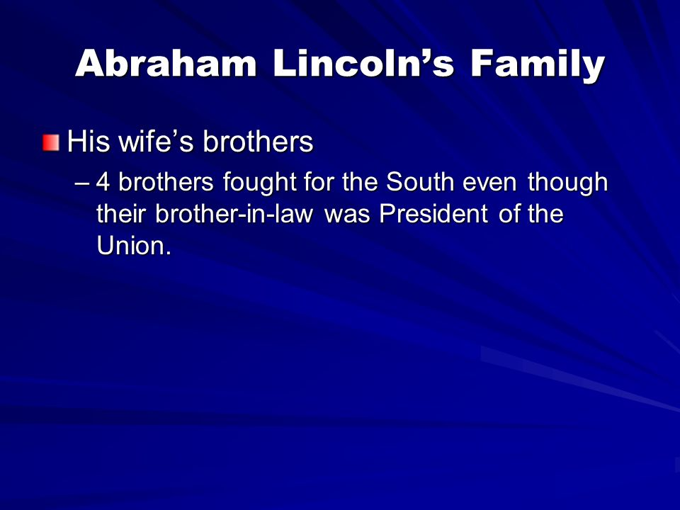 Abraham Lincoln's Family
