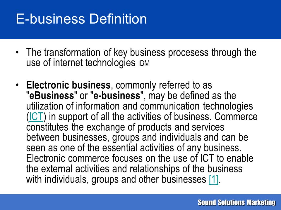 E-business Definition - ppt video online download