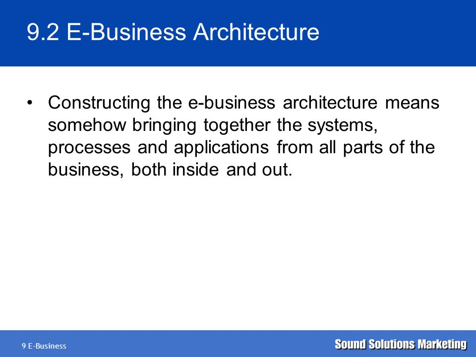 E business definition ppt video online download for E business architecture