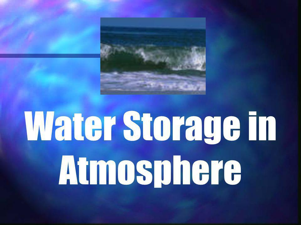 Water Storage in Atmosphere