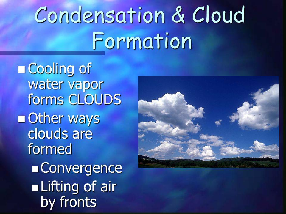 Condensation & Cloud Formation