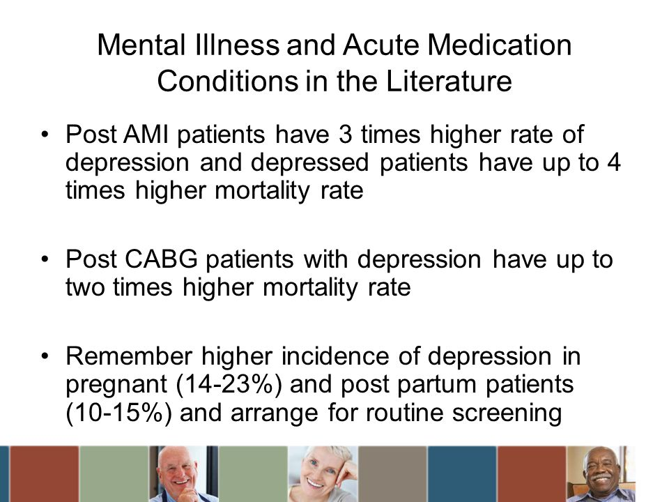 Mental Illness and Acute Medication Conditions in the Literature