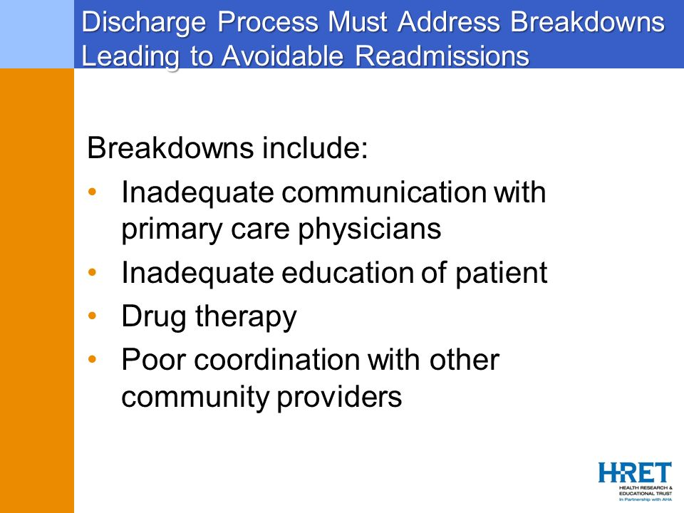 Inadequate communication with primary care physicians