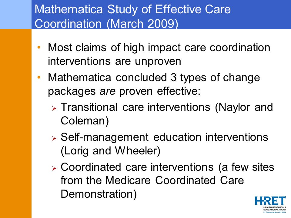 Mathematica Study of Effective Care Coordination (March 2009)