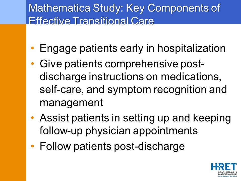 Mathematica Study: Key Components of Effective Transitional Care
