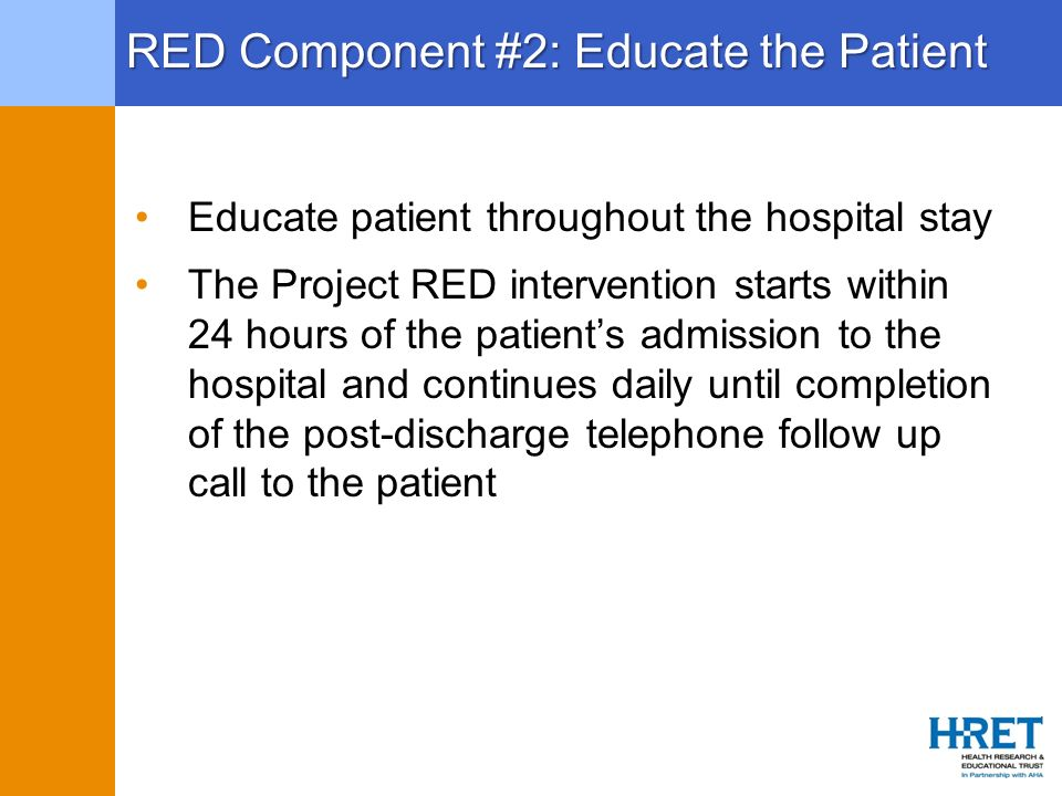 RED Component #2: Educate the Patient