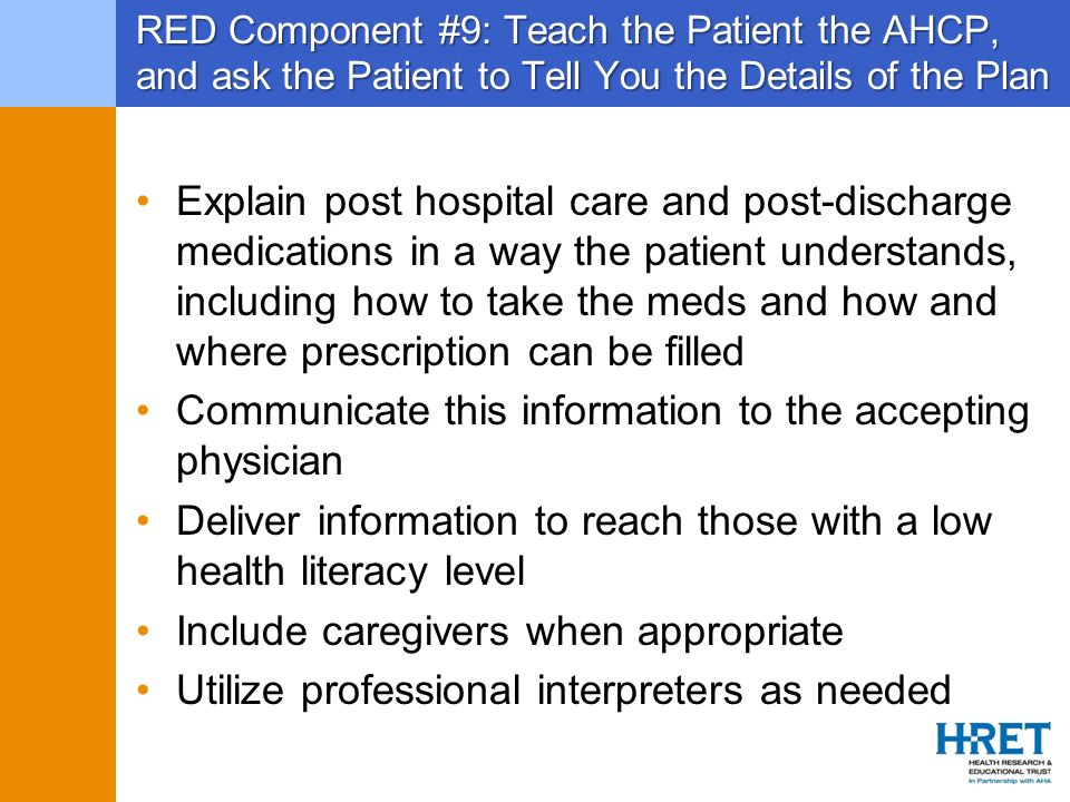 Communicate this information to the accepting physician