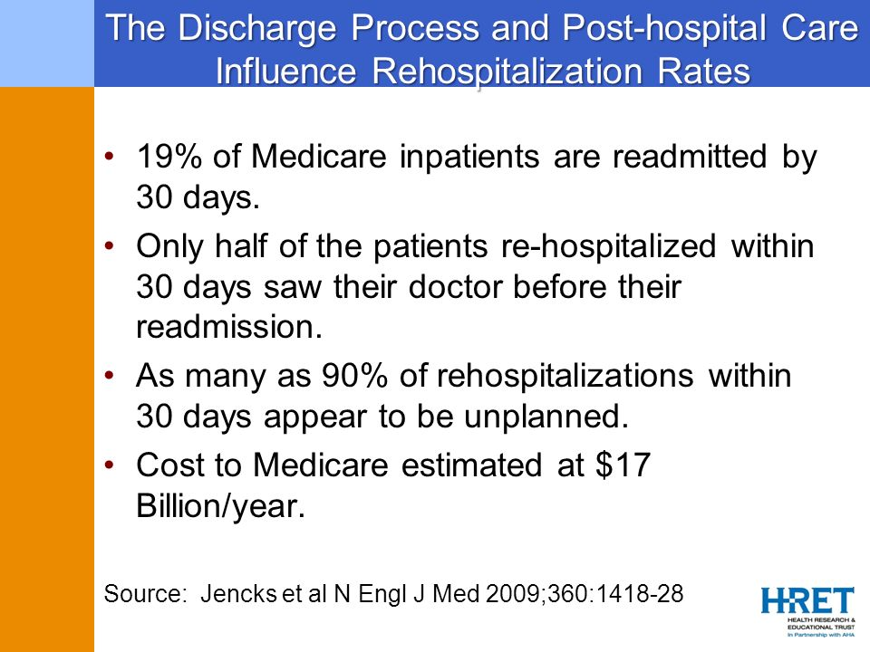 The Discharge Process and Post-hospital Care Influence Rehospitalization Rates