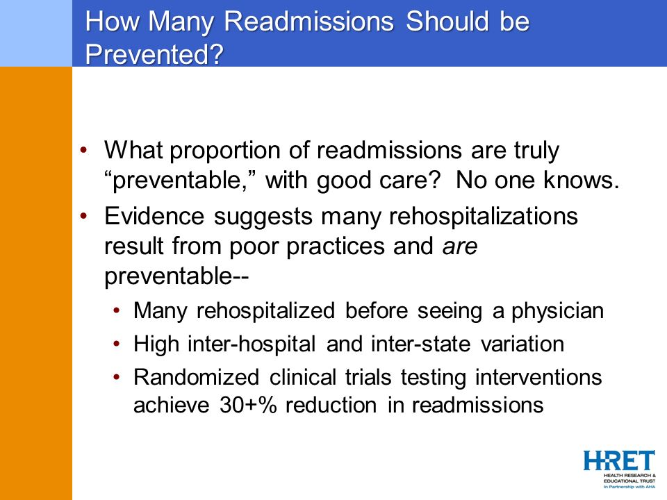 How Many Readmissions Should be Prevented