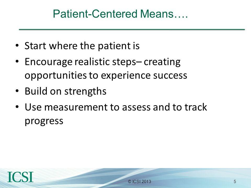 Patient-Centered Means….